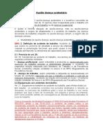 Auxílio doença acidentário - resumo - revisado