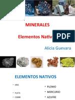 2A. Elementos Nativos y Sulfuros