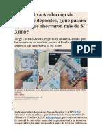 Cooperativa Aeulucoop Sin Seguro de Depósitos (1)