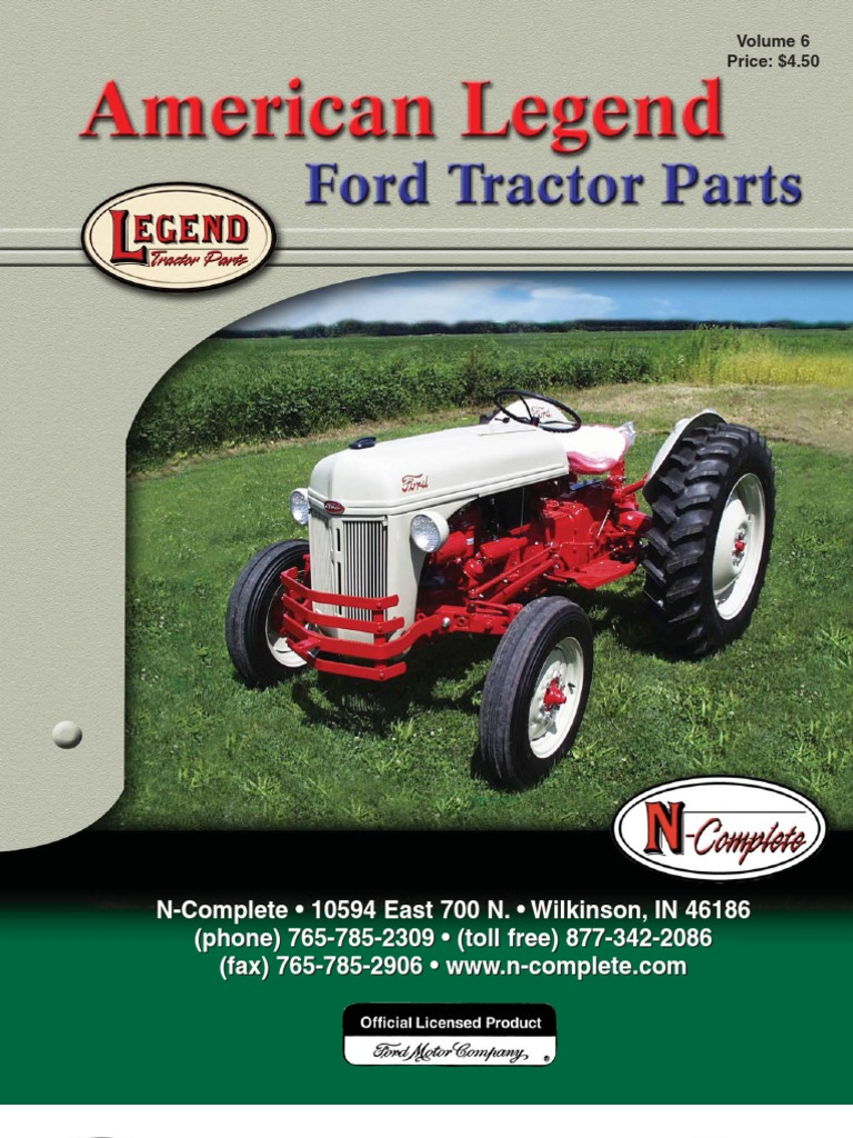 Ford Tractor Electric Diagram For 19531962 sel Engine ... on