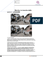 Terremoto Marche, le ricerche delle quattro università - Vivereurbino.it, 15 settembre 2021