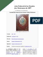 Constitución Federal de los Estados Unidos Mexicanos de 1857