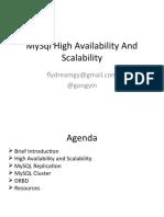 MySql High Availability And Scalability