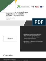 Tipologia dos utentes - apresentação formandos