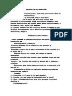 TECNICAS DE ORACIÓN