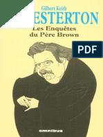 CHESTERTON 'LES ENQUÈTES DU PÉRE BROWN'