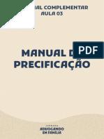 MANUAL DE PRECIFICAÇÃO
