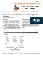 pH of various foods