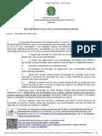 Nota Informativa do Ministério da Saúde sobre vacinação em adolescentes contra a Covid-19