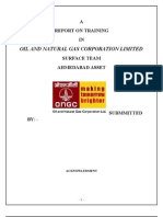 A Report of Training in ONGC