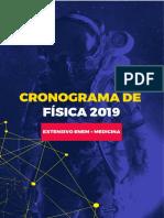 Cronograma de Física – Extensivo Enem + Medicina 2019