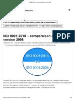 ISO 9001_2015 - comparaison avec la version 2008