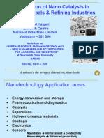 gujarat university 8th Semester chemical engineering Nano Catalysis in Petrochemicals & Refining Industries