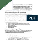 Promoción de un proyecto de Internet con una agencia digital