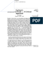 Carlzon's Moments of Truth - A Critical Appraisal