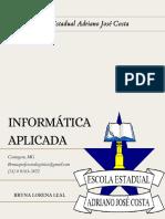 INFORMÁTICA APLICADA - AULA 10-08-2021