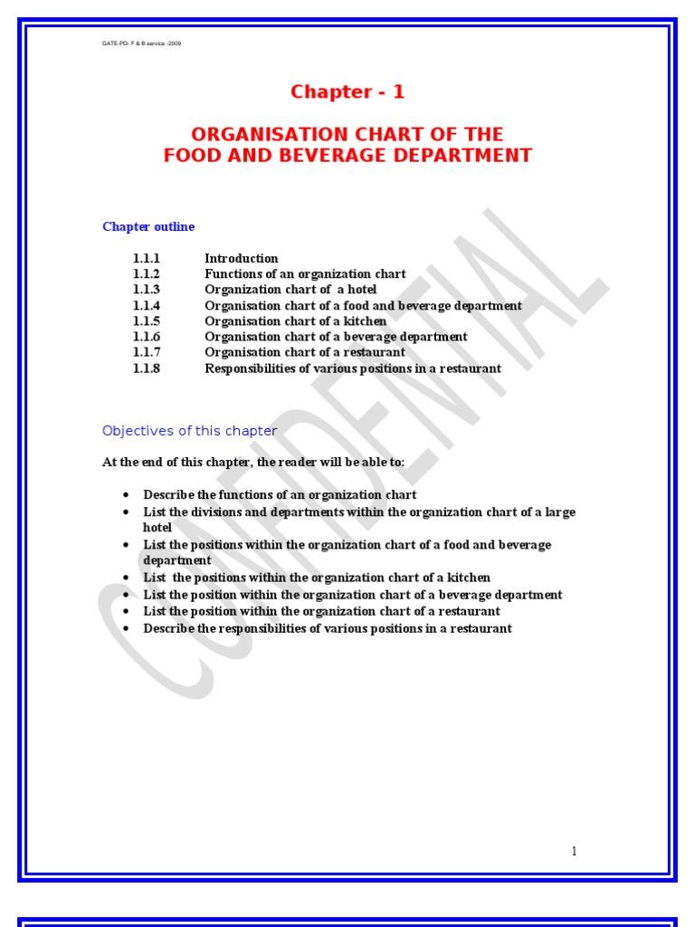 Food Service Management Bar Restaurants. Restaurant Kitchen Hierarchy