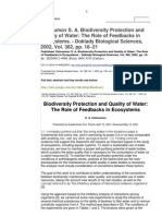 Biodiversity protection and quality of water
