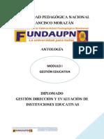 ANTOLOGÍA GESTION EDUCATIVA 2020