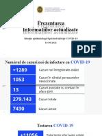 Raportul COVID-19 privind Situația Epidemiologică la 16 septembrie 2021 (ora 17:00):