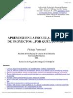 Lectura Complementaria Perrenoud - ABP ES
