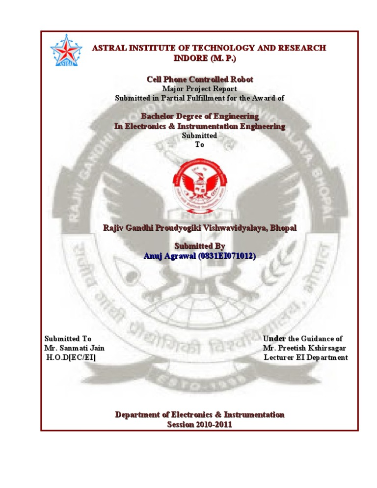 Major project front page certificate acknowledgement format front page major project yelopaper Choice Image