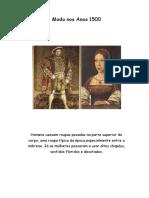 Moda nos Anos 1500