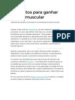 Alimentos para ganhar massa muscular