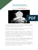 demônio diante da Eucaristia
