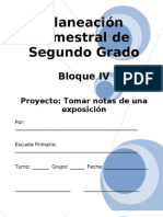 2do Grado - Bloque 4 - Proyecto 1