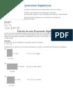 Expressões Algébricas 8º ano
