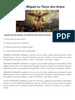 Rosário de São Miguel ou Terço dos Anjos