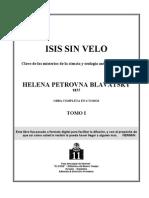 Blavatsky, H P - Isis Sin Velo 1