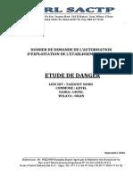 ETUDE DE DANGER ETABL CLASSE