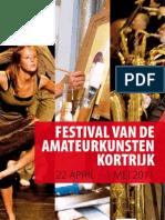Week van de Amateurkunsten Kortrijk 2011 - brochure