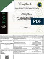 Certificado de Conclusão de Curso - Com Fundo - Cesar Augusto Venancio Da Silva - Neurociência