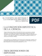 El concepto de hipótesis y la concepción hipotética de la ciencia - introducción