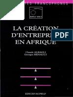 La Creation d Entreprise en Afrique