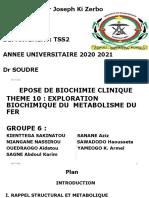 Biochimie Clinique Groupe 6 - Copie