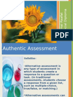 Presentation. Authentic Assessment