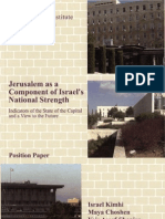 Jerusalem as a Component of Israels National Strength
