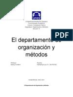 El Departamento de Organización y Métodos