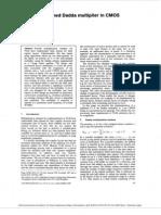 8 x 8 bit pipelined Dadda multiplier in CMOS