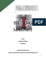 LAPORAN BATANG MAGNET (EXPERIMENT)