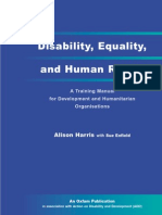 Disability, Equality and Human Rights