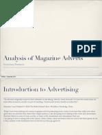 Analysis of magazine adverts