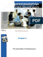 The Personality of Entrepreneurs