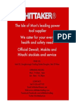 Whittaker Trading Special Rates Pricelist April 2011