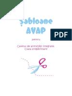 Șabloane AVAP pentru Caietul de activități integrate. Clasa pregătitoare