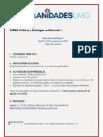 Guía de aprendizaje 7 Políticas y Estrategías en Educ